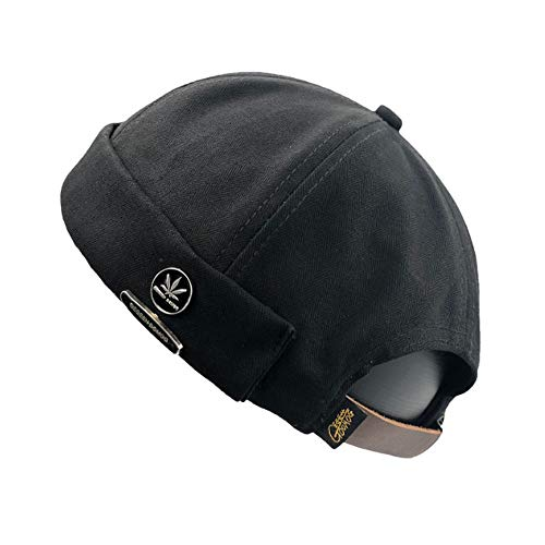Clape Rolled Cuff Skull Caps Stylish Rivet Decorated Watch Cap ()