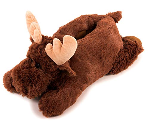 Lazy Paws Adult Sized Animal Slippers - Size Medium Only (Medium, Moose 2)