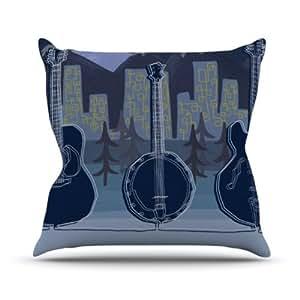 "Kess InHouse Jaidyn Erickson ""Mountain Song"" Outdoor Throw Pillow, 18 by 18-Inch"