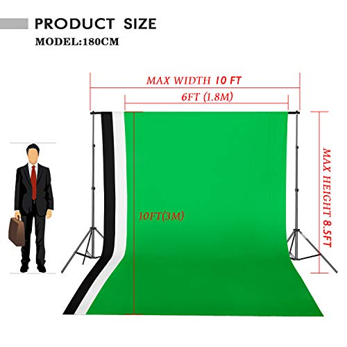 Emart 8.5 x 10 ft Backdrop Support System, Photography Video Studio Lighting Kit Umbrella Softbox Set Continuous Lighting for Photo Studio Product, Portrait and Video Shooting Photography by EMART (Image #1)