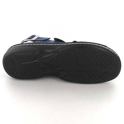 Finn Comfort Womens Saloniki 2557 Leather Sandals Azul
