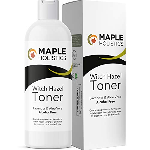 Alcohol Free Witch Hazel Toner - Witch Hazel Facial Toner for Sensitive Skin and Gentle Makeup Remover Cleanser with Lavender and Aloe - Hydrating Pore Cleanser Facial Toner and Astringent for Face