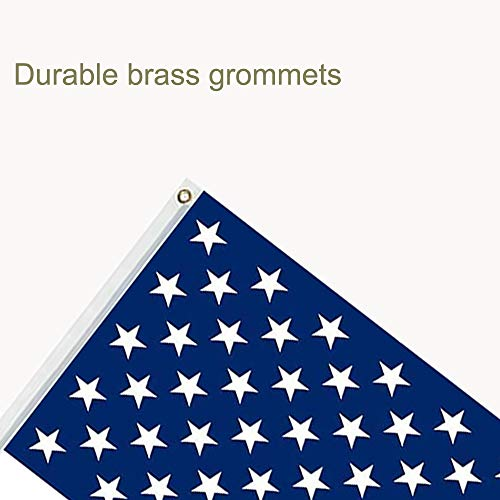 All-Conquering American US Flag with Brass Grommets 3 X 5 Ft, Vivid Color and Fade Resistant, USA Flags Polyester 3x5 Foot(2 Pack) (American Flag)
