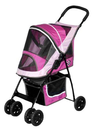 Pet Gear Sport Pet Stroller for Cats and Dogs Upto 20-Pound, Sport Pink, My Pet Supplies