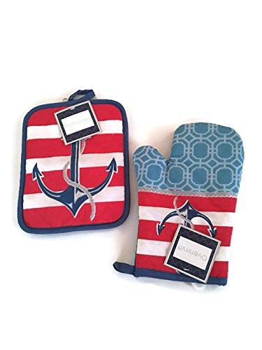 Nautical-Theme-Kitchen-Hand-Towel-Set-Pot-Hold-and-Mitt