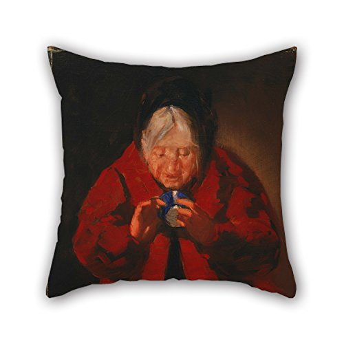 Alex Halloween Costume Smith (Alphadecor Oil Painting George Luks - Telling Fortunes Throw Pillow Covers ,best For Bench,sofa,play Room,bar,couples,drawing Room 20 X 20 Inches / 50 By 50 Cm(twin)