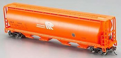 Bachmann Trains Potash Corporation (Orange) 4 Bay Cylindrical Grain Hopper-Ho Scale