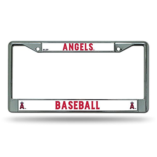 Rico Industries MLB Los Angeles Angels Chrome License Plate Frame