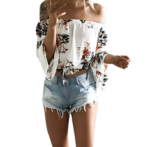 Womens Contrast Stitch Lightweight Jacket - Wintialy Women Summer Long Sleeve Off Shoulder Loose T-Shirt Casual Blouse Shirt