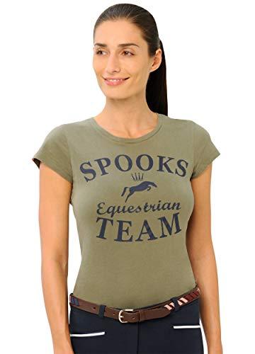 SPOOKS T Shirt für Damen Mädchen Kinder, tailliert Sommer Tshirt mit Aufdruck aus Frotee - bequem & stylisch Team - XS-XL