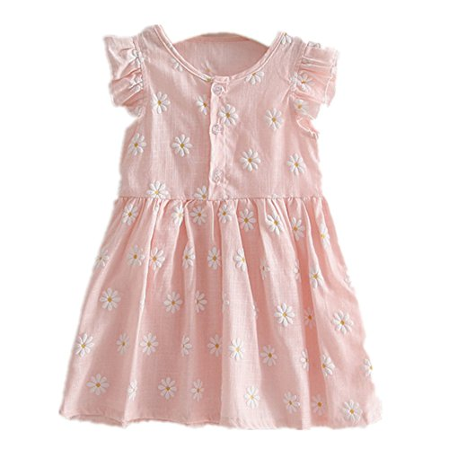 ftsucq-girls-floral-sunflower-sunflower-printed-sleeveless-princess-dresspink-120