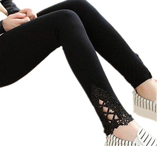 BCVHGD Plus Size Leggings S- 7XL Leggings Women Cotton Legging Pants Women's Summer Jeggings Solid Color 7XL 6XL 5XL 4XL 3XL XXL XL L M black3 S Cosy
