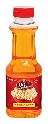 Orville Redenbacher's Popping & Topping Buttery Flavored Oil, 16 Fluid Ounce, Pack of 6