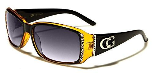 (CG Eyewear Rhinestone Studded Narrow Rectangular Designer Fashion Sunglasses ...)