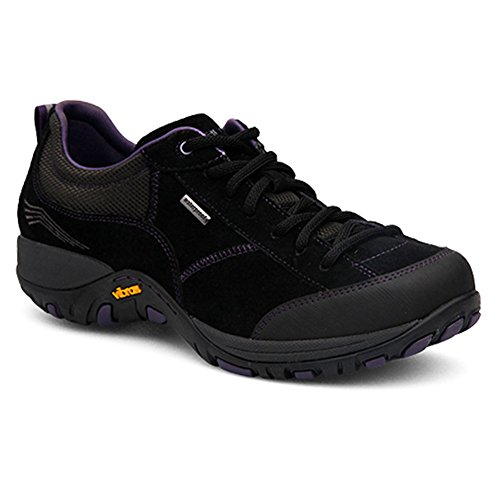 Dansko Women's Paisley Fashion Sneaker, Black Suede, 40 EU/9.5-10 M US