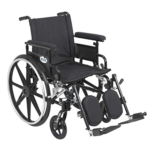 Drive Medical Viper Plus GT Wheelchair with Flip Back Removable Adjustable Desk Arms, Elevating Leg Rests, 16