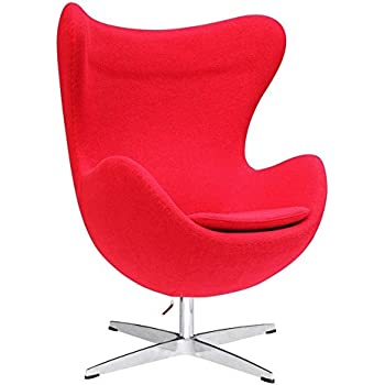 designer modern arne jacobsen egg chair red. Black Bedroom Furniture Sets. Home Design Ideas