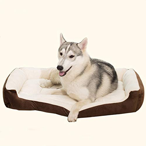 LEXSO Dog beds Small Dogs Deluxe Orthopedic Mattress Pet Bed Dogs & Cats Styles, Super Plush Dog & Cat Beds Ideal Dog Crates, Self-Warming Cozy Improved Sleep, Eases Pet Arthritis