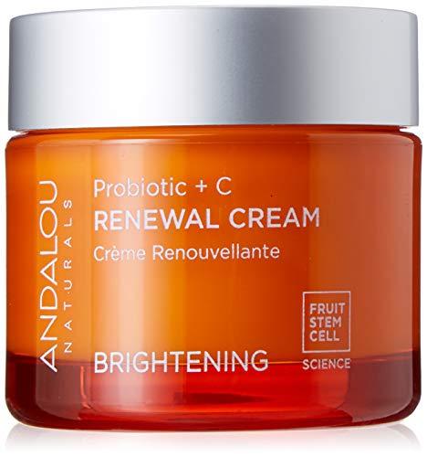 Andalou Naturals Brightening Probiotic + C Renewal Cream,1.7 Fl Oz