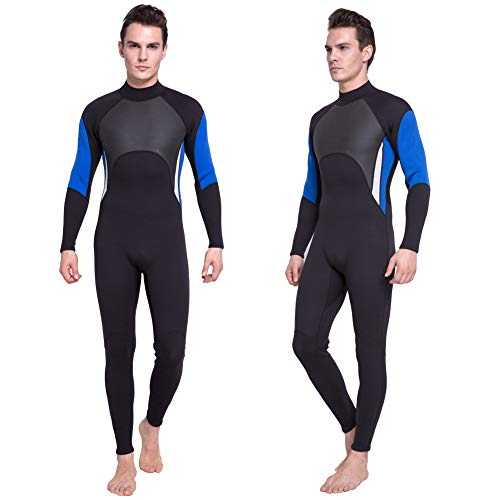 DEHAI Men Women's Full Wetsuits Thermal Suit Sleeves 3mm Neoprene Youth Adult's Diving Swimming Snorkeling Surfing Scuba Jumpsuit Warm Swimwear (Full Men XL)