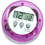 HDE Magnetic Electronic Digital Kitchen Timer Cooking Counting Stop Clock Alarm (Purple)