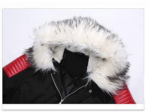 White Giacca Lunghe Cotone Largo Matching Lunga Maniche Black Da Uomo A Giacche Collo Xiaozhao In 6fxFRq