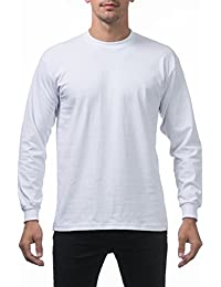 Men's Heavyweight Cotton Long Sleeve Crew Neck T-Shirt