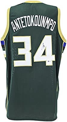online store 0dc63 1d786 Amazon.com: Bucks Giannis Antetokounmpo Authentic Signed ...