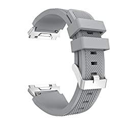 Lisin Sports Soft Silicone Replacement WirstBand Sports Band For Fitbit Ionic Watch (Gray)