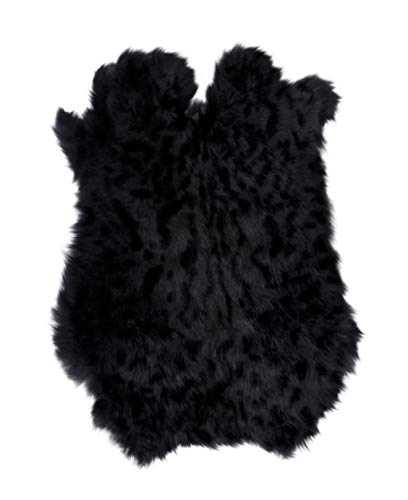 Ocelot Print Tanned Rabbit Fur Hide (10