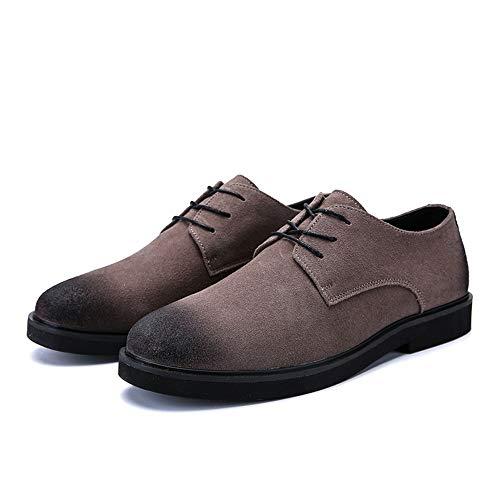 color Tamaño Simple Casual Cordones Zapatos Moda Oxford Gris Hombres Gris 39 Retro Con Yjiaju Cómodo Masculina Formales Eu qF6ww7