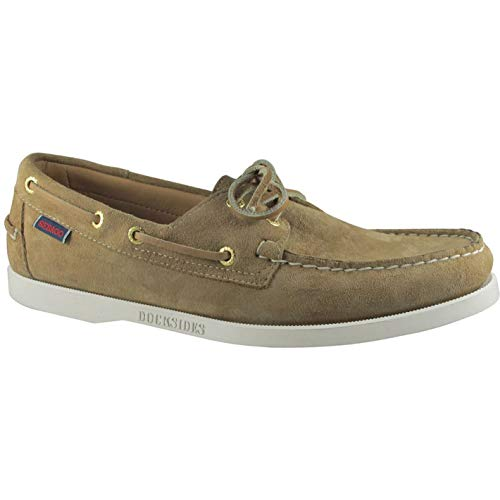 (Sebago Dockside Portland Slip On Shoes 12 D(M) US Beige Camel Suede)