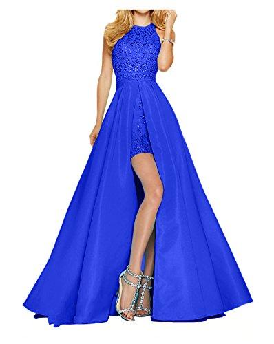 Neu Abiball Royal Partykleider Abendkleider Damen Promkleider Blau Steine Charmant 2018 Tanzenkleider Hundkragen Schleppe mit 8qRnpw7A
