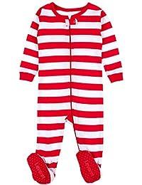 Striped Baby Boys Girls Footed Pajamas Sleeper 100%...