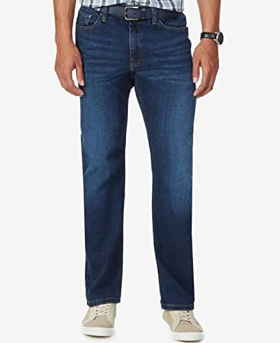 Nautica Mens 42X30 Relaxed Fit Stretch Straight Leg Jeans Blue 42