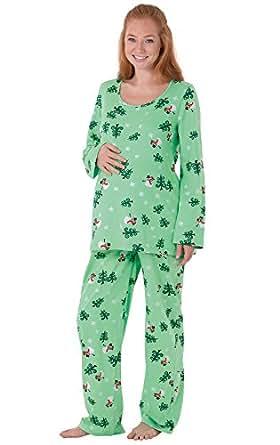 Amazon.com: PajamaGram Women's Let It Snow, Man! Maternity ...