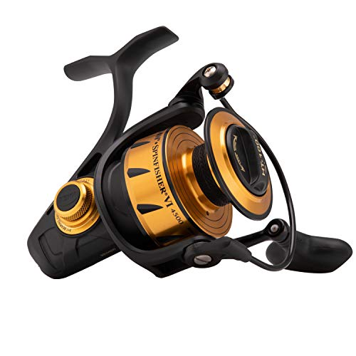 Penn Spinning Fishing Reel - Penn 1481262 Spinfisher VI Spinning Saltwater Reel, 4500 Reel Size, 6.2: 1 Gear Ratio, 40