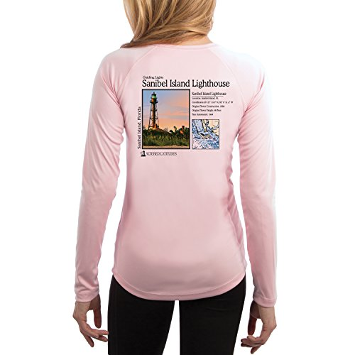 Guiding Lights Sanibel Island Women's UPF 50+ Long Sleeve T-Shirt XX-Large Pink Blossom (Blossom Island Light)