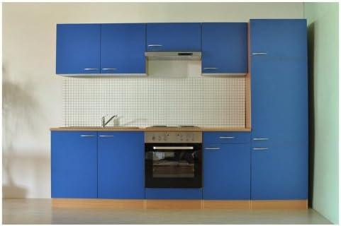 Mebasa MEBAKB27BE cocina americana/bajera ajustable Kitchen/para frigoríficos eficiencia energética clase A + para horno/eficiencia energética clase A/cocinas 270 cm azul: Amazon.es: Hogar