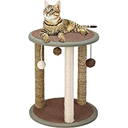 """QAQA 19.7"""" Multiple Cat Scratching Posts,Cat Scratcher Pole Natural Sisal,Cat Furniture Interactive Toys Pet Toy Ball Kitty Small Large Cats"""