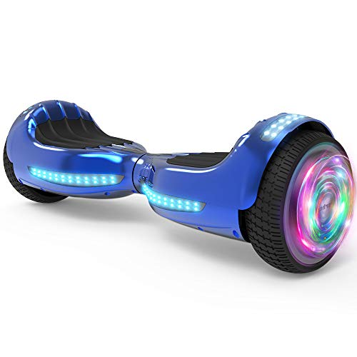 Hoverboard UL 2272 Certified Flash Wheel 6.5' Bluetooth Speaker with LED Light Self Balancing Wheel Electric Scooter (Chrome Pink)