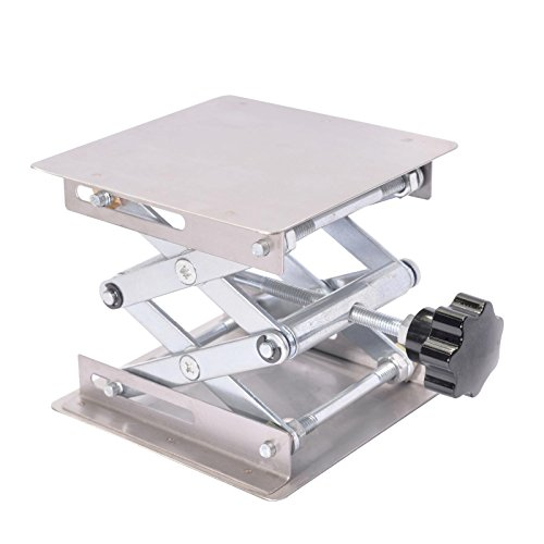 Pronghorn Lab Scissor Lift Platform Stand Jack 4 x 4 Inch by Pronghorn