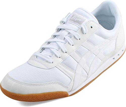 Tiger Leather Sneakers (Onitsuka Tiger Ultimate 81 Fashion Sneaker, White/White, 5.5 M US)