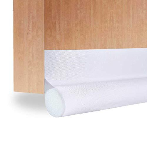KOBWA - Tope para puerta de bajo puerta, ahorro de energía, aislante de bloqueo, puerta de barrido, tiras de tiempo, sellado...