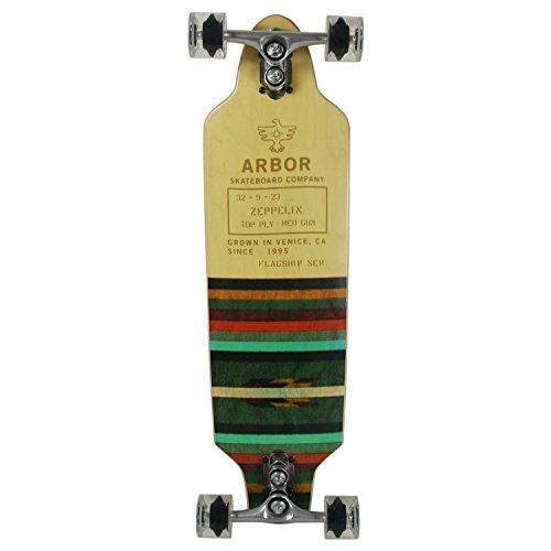 (Arbor Longboard Flagship Zeppelin Gullwing Trucks/Dregs Wheels)