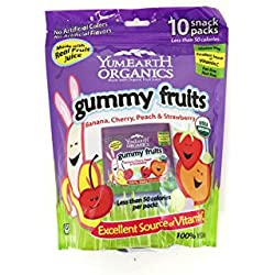YumEarth Organic Easter Candy Gummy Fruits, 5 Ounce