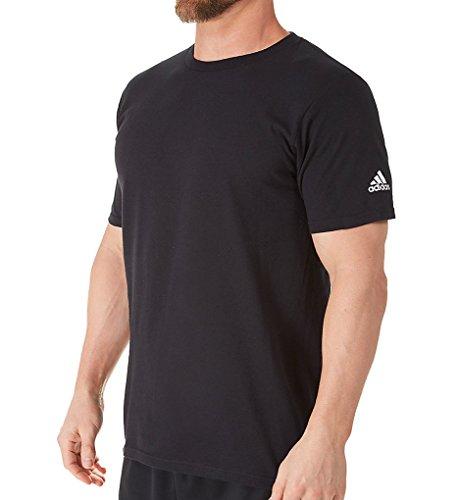 adidas Adult Short Sleeve Logo T-Shirt Black (Adidas Soccer T-shirt)