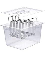 Väeske Sous Vide Container with Lid   Fits Most Sous Vide Cookers   Sous Vide Accessories (12 Quarts, Rack)