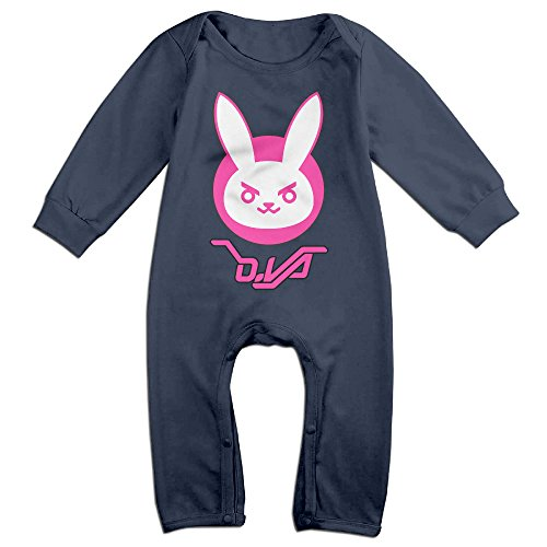 Price comparison product image PCY Newborn Babys Boy's & Girl's Over Game Rabbit Long Sleeve Baby Climbing Clothes For 6-24 Months Navy Size 6 M