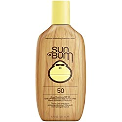 Sun Bum Moisturizing Sunscreen Lotion, SPF 50, 8 Fl Oz Bottle, Oil Free, Hypoallergenic, Packaging May Vary